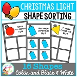Shape Sorting Mats: Christmas Light ~Digital Download~